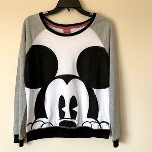 Disney Top Peeking Mickey Mouse Long Sleeve
